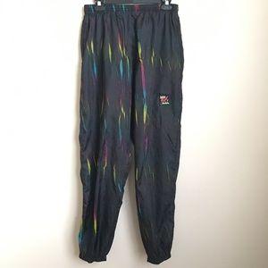 Vintage Surf Style 80's Windbreaker Pants Neon